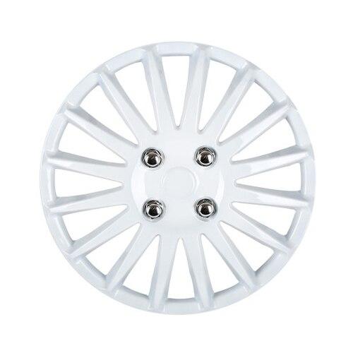 15 Car Wheel Trims Hub Caps Plastic Covers Universal White