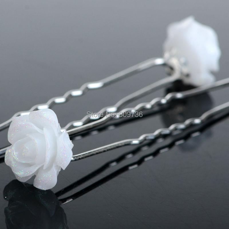 20 STÜCKE Silber Rose Blume Haarnadeln Braut Hochzeit Haar Clips ...