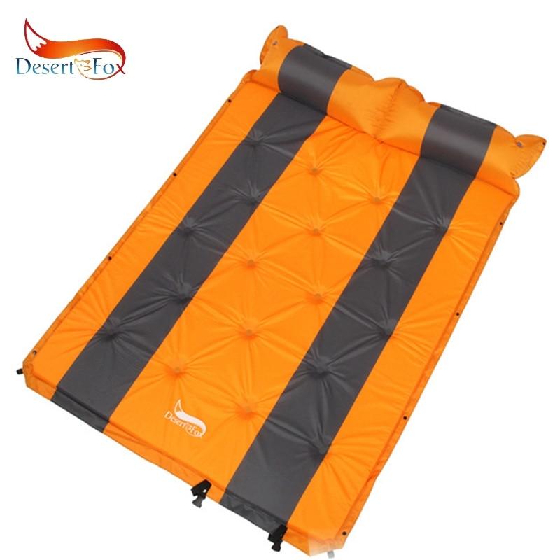 Desert&Fox 192 X 132cm Double Person Self-Inflating Sleeping Pads With Air Pillow, Tent Air Mattress PortableSleeping Pads