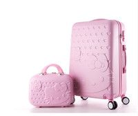 Hello Kitty lady luggage suitcase trolley travel bag bag trolley wheels women luggage wheels travel box 20 28inch abs luggage
