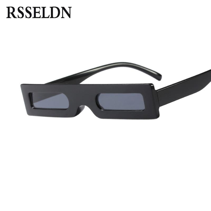 RSSELDN Small Rectangle Sunglasses for Women 2018 Leopard Red Black Top Fashion Sun glasses For Men Unisex Eyewear Shades UV400