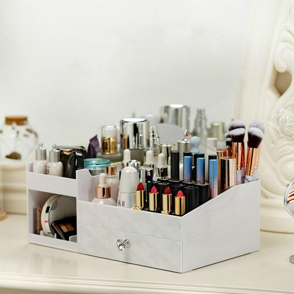 Maquillage organisateur boîte commode bijoux étui de rouge à lèvres soins de la peau finition cas maison cosmétique boîte de rangement en plastique bureau XI2225