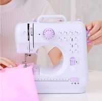 29%,FANGHUA Genuine FHSM 505A Sewing Machine +Presser Foot + Small table Portable Mini Knitting Multifunction Electric Pedal