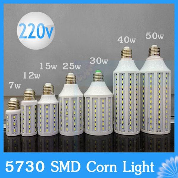 Lampada de Chips Cree E27 110 V 220 V 5730 5630 SMD LED Milho Bulbo luz spotlight lâmpada 5 w 7 w 10 w 12 w 15 w 20 w 25 w 30 w 40 w 50 w