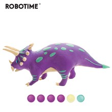 Robotime Creative DIY Polymer Triceratops Clay Slime Fluffy Light Soft Plasticine Toy Modelling Clay Playdough Slimes Toys FY05(China)