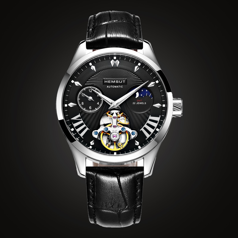 New Fashion Luxury Brand Watch Men s Automatic Mechanical Watch Men Sports Waterproof Leather Watches Relogio