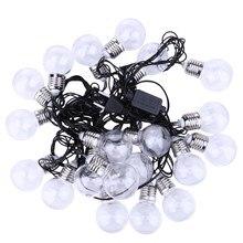 20 LED Blanco Cálido Bola LED Cadena Luces de Hadas Wedding Garden Conectable Festón de Vacaciones de Navidad Luces De Navidad EE.UU. Plug SGG #