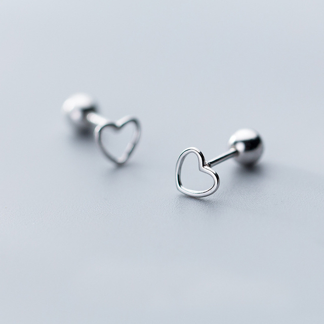 MloveAcc Authentic 925 Sterling Silver Hollow Love Heart Screw Stud Earrings for Women Valentines Day Gift.jpg 640x640 - MloveAcc Authentic 925 Sterling Silver Hollow Love Heart Screw Stud Earrings for Women Valentines Day Gift Jewelry