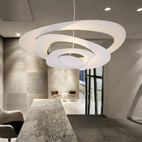 DIY 65 см белый Цвет оборудования современные светодиодные подвесные светильники для столовой Кухня комната фойе дома декабря AC85 265V висит кул