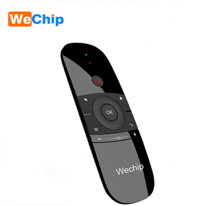 Image 1 - Wechip W1 Russian Or English Version 2.4GHz Wireless Keyboard Mini Fly Air Mouse for Smart Android TV Box mini PC HTPC Projector