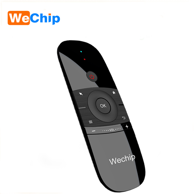 New Price Wechip W1 Russian Or English Version 2.4GHz Wireless Keyboard Mini Fly Air Mouse for Smart Android TV Box mini PC HTPC Projector