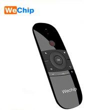 Wechip W1 versione russa o inglese 2.4GHz tastiera Wireless Mini Fly Air Mouse per Smart Android TV Box mini PC proiettore HTPC