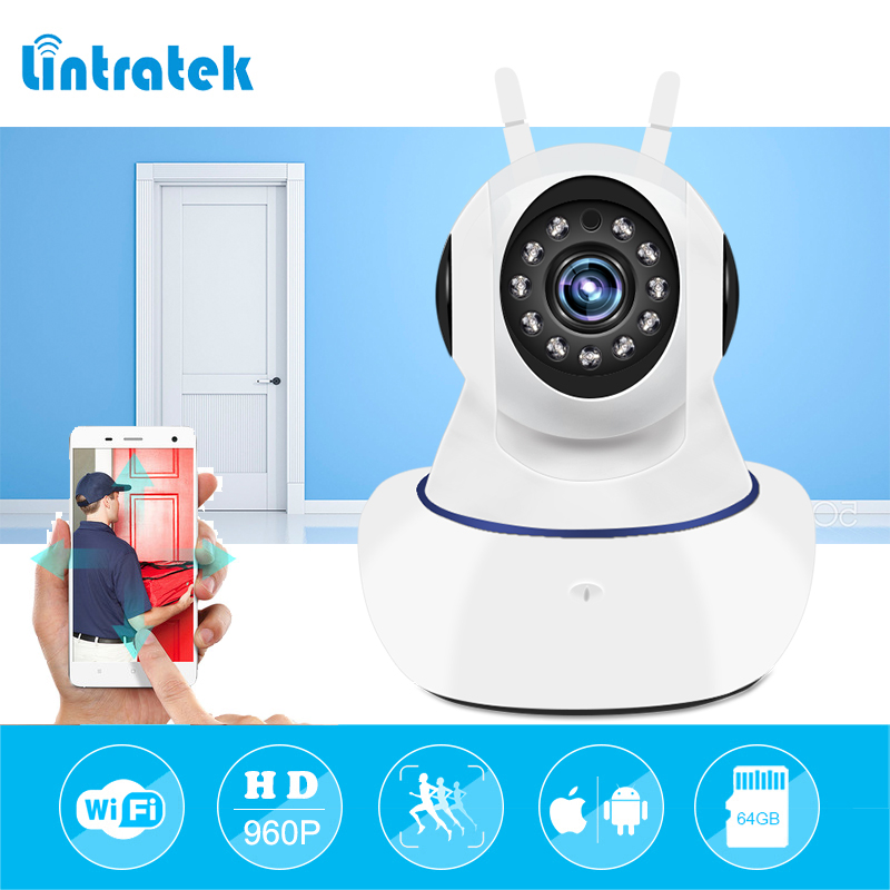 lintratek Wireless IP Surveillance Camera Baby Monitor Pet cam 960P Home Security Video Surveillance CCTV Two way Audio Camara lintratek wireless ip bullet security camera 960p 4x optical zoom surveillance wifi cctv camera ip65 waterproof outdoor camara