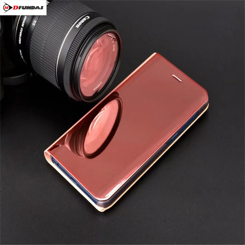 Luxury Mirror Plating Hard Plastic Back Case Cover For Samsung Galaxy A7 2018 Case Flip Business Shell For Samsung A7 2018