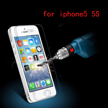 For iphone 5s glass 2 5D arc edge Tempered Screen Protector film protective glass for iPhone