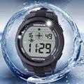 Mulheres esporte relógios xonix auto calibração de internet, 100 M À Prova D' Água das Ondas de Rádio Auto Calibração Digital Assista Montre Homme