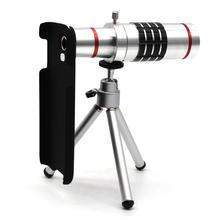 Wholesale prices ZEALLION 18x Zoom Optical Telescope Telephoto Camera Lens For Samsung S3 S4 S5 S6 S6 Edge Note 2 3 Phone Case + Clips Tripod