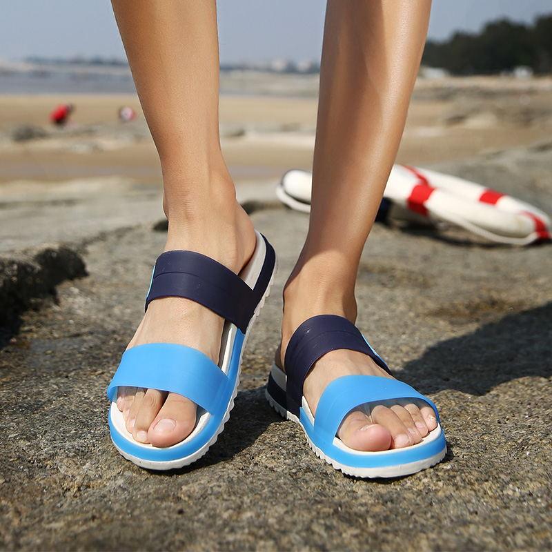 LAISUMK Summer Beach Men Slippers Casual Shoes Double Buckle Man Slip on Flip Flops Flats Camouflage Flip Flop Indoor & Outdoor 98