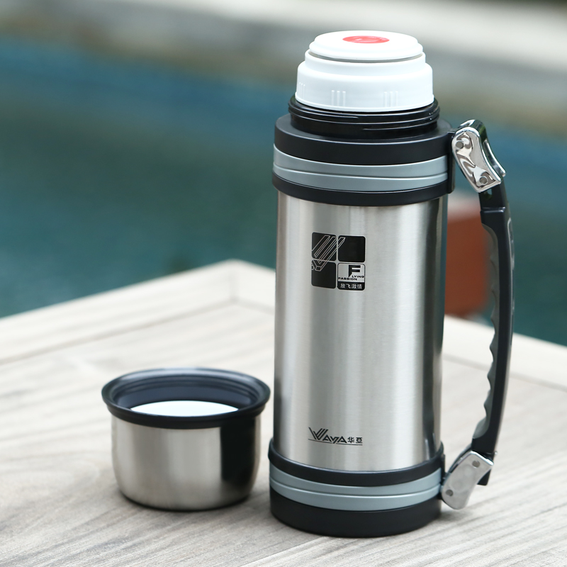 2 l outdoor travel pot portable large capacity thermal insulation pot thermos stainless steel kettle household