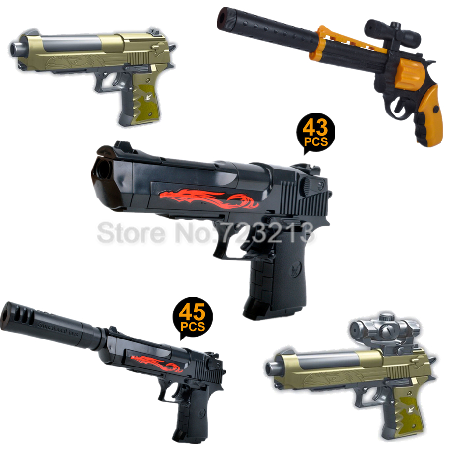 Military Guns For Sale >> Us 4 95 Single Sale Military Series Weapons Bricks Desert Eagle Revolver Parts Army Police Swat Block Gun Building Blocks Models Toys In Blocks From