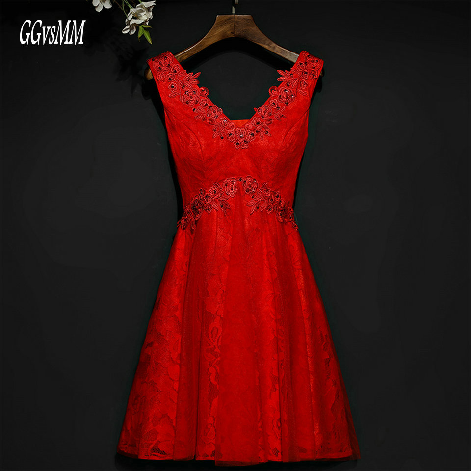 Fast Shipping Red Prom Dresses Short 2018 Cheap Women Party Gown