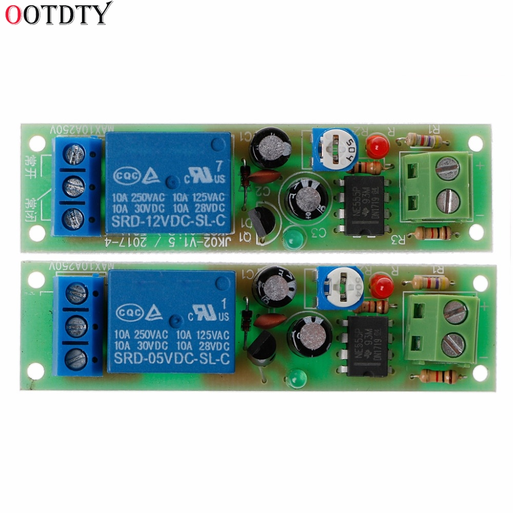 DC 12V Relay Module Adjustable Delay Time Switch 0.1-5 Seconds Timer Board
