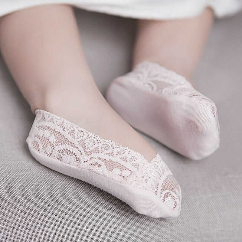 Lace Baby Socks Low Cut Girls Cute Cotton Newborn Socks Invisible Toddler Kids Comfortable Lace Slippers Ankle Sock 2019 New