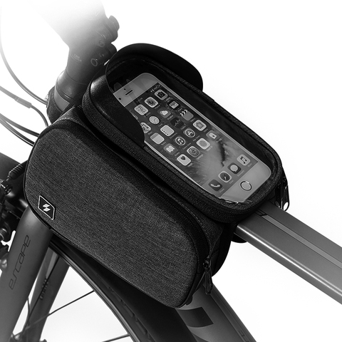 Sahoo 122007 Touch Screen Bike 6.5in Cell Mobile Phone Bag Front Frame Top Tube Cycling Pouch Double Side Bicycle Pannier Lahore