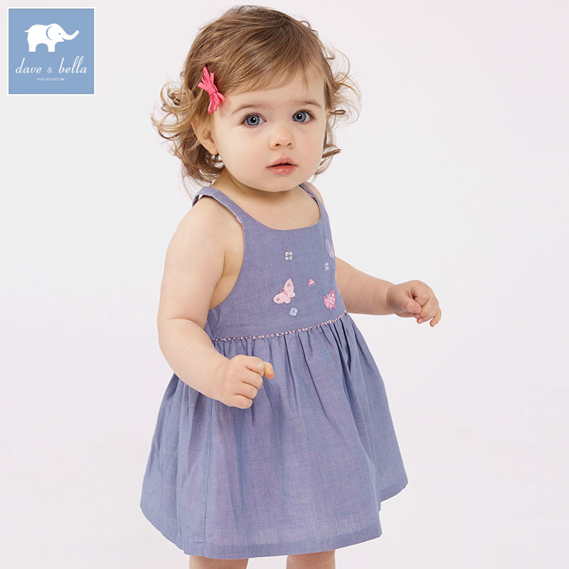 DBA6609 dave bella summer infant baby girl's toddler dress children sleeveless dress kids party wedding birthday clothes db7266 dave bella baby dress girls infant toddler clothing children birthday party clothes kids summer lolita dress
