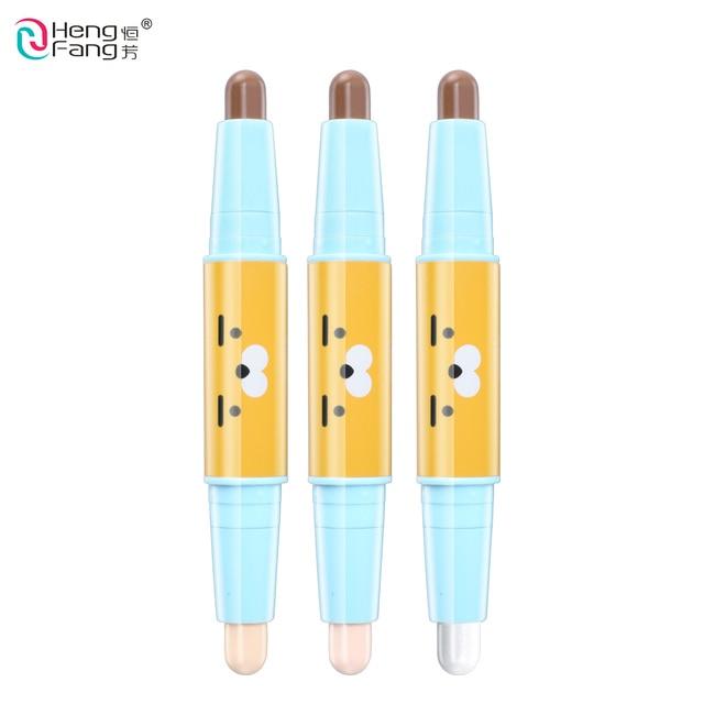 Double tête 3D bronzeur surligneur Stick visage maquillage correcteur stylo Texture Contour crayon 3.4g maquillage marque HengFang # H8469