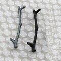 Galhos de prata preto Caçoa o Quarto Móveis alças Armário de Cozinha Armário Armário Puxador de Gaveta Puxa maçanetas forma Ramo 96mm