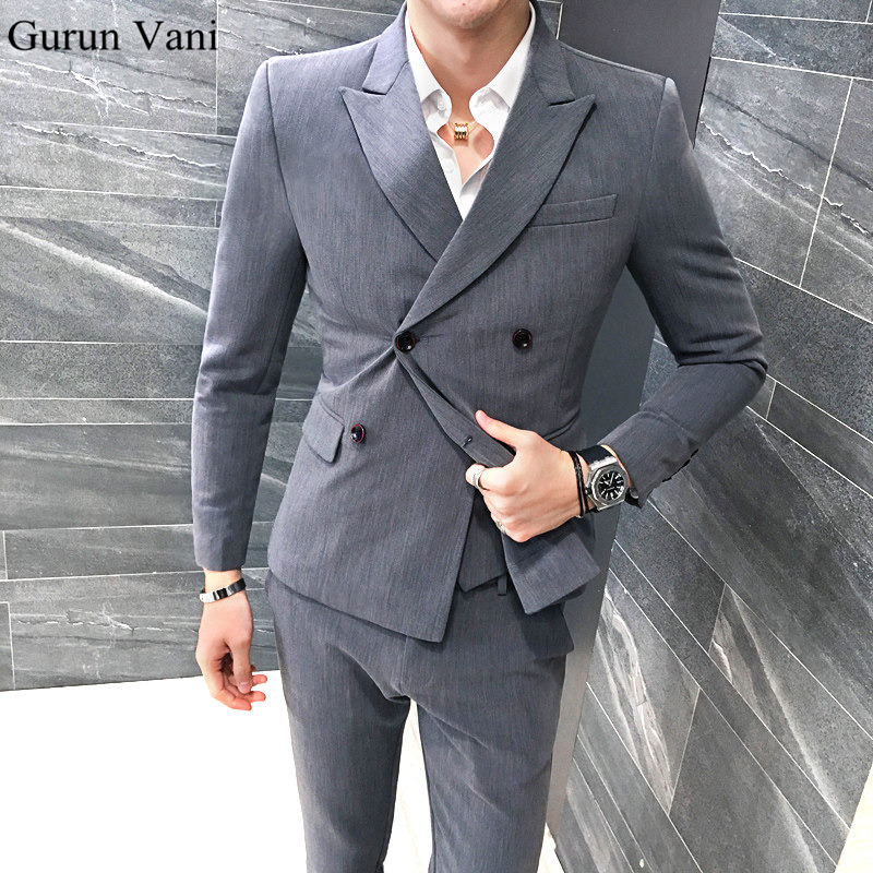 UPS DHL Free Shipping Men's Double-breasted Blazer Suits Style Custom Made Men's Suits Tailor Suit Blazer Suits For Men 3 Piece