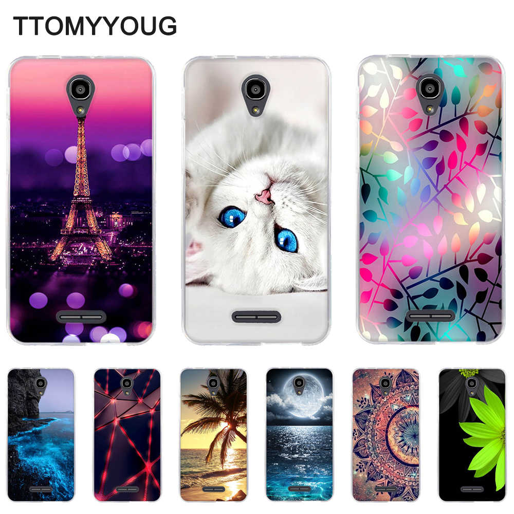 Case for Alcatel Pop 4 Plus 5056D Back TPU Phone Cover for alcatel pop4 plus 5056d Soft Silicone Shells for Alcatel POP 4+ 5.5""