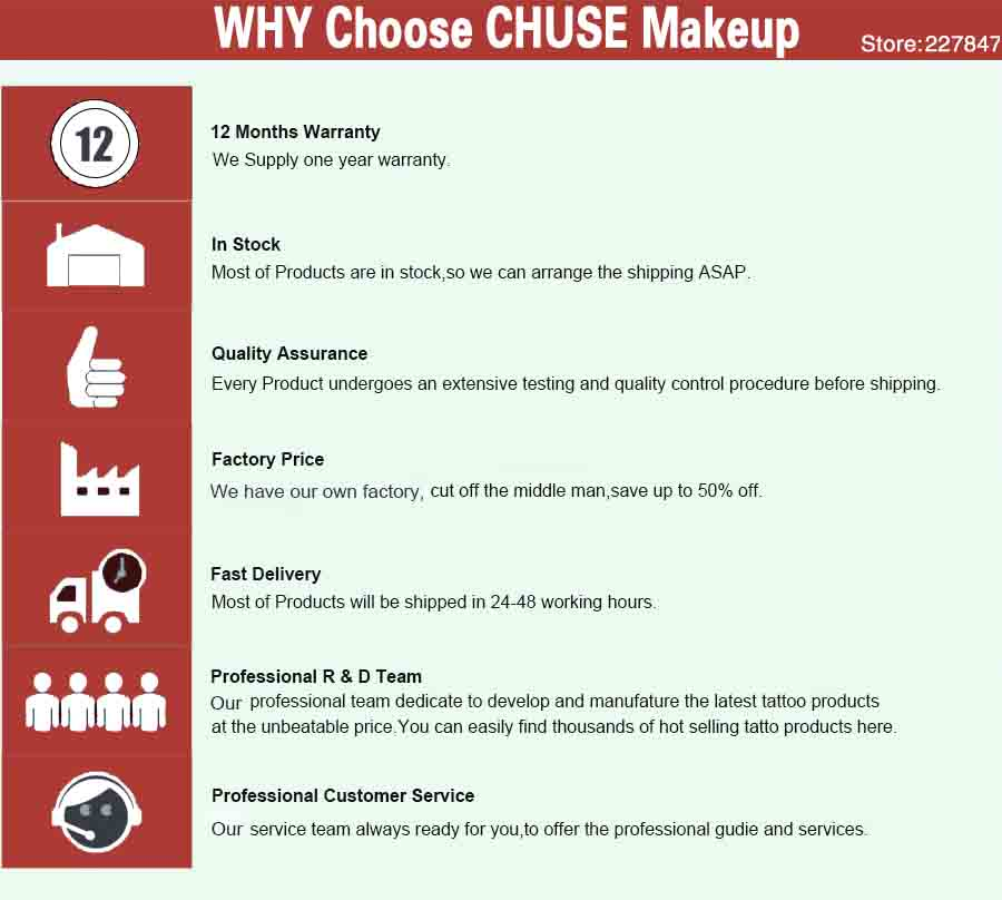 CHUSE Makeup Store FAQ1
