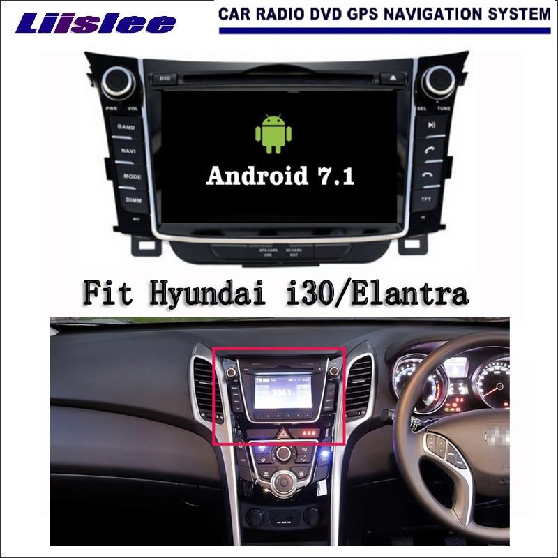 Android 7.1 2G RAM For Hyundai i30/Elantra GT Car Radio Audio Video Multimedia DVD Player WIFI DVR GPS Navi Navigation kanor android 7 1 ram 2g 2din car dvd radio for hyundai elantra 2016 multimedia player wffi swc map bt audio double din car gps