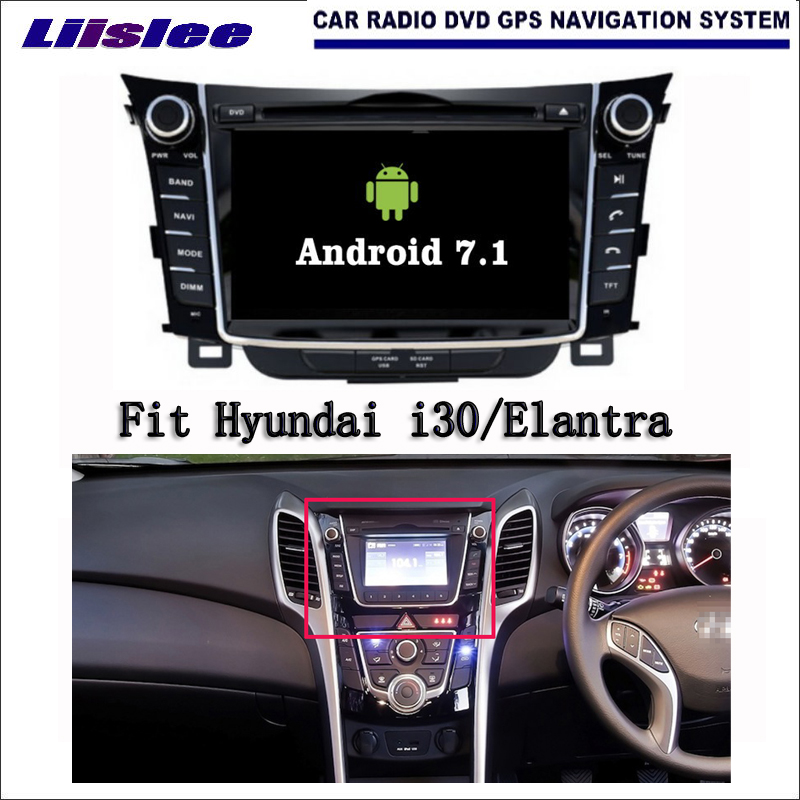 Android 7.1 2G RAM pour Hyundai i30/Elantra GT autoradio Audio vidéo multimédia lecteur DVD WIFI DVR GPS Navigation Navi