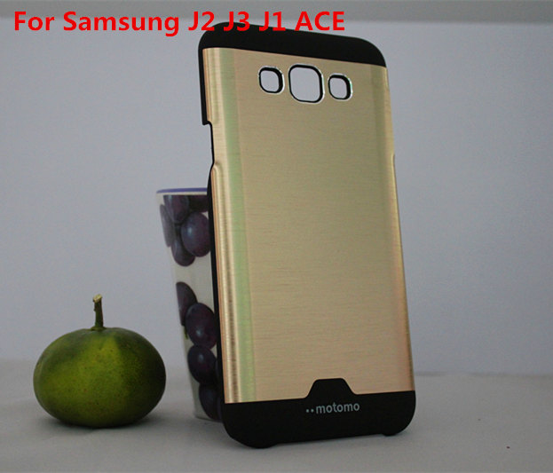 Hot Motomo Metal Brushed Radiating Aluminum+Hard PC 2 1 Back Cover Case Samsung Galaxy J2/J200 J3/J3109 J1 ACE capa para  -  Cosplay Group Store store
