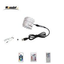 Moesdal  USB LED strip 5V Power LED Strip light RGB 2835 3528 SMD HDTV TV Desktop PC Screen Backlight & Bias lighting 0.5-5M