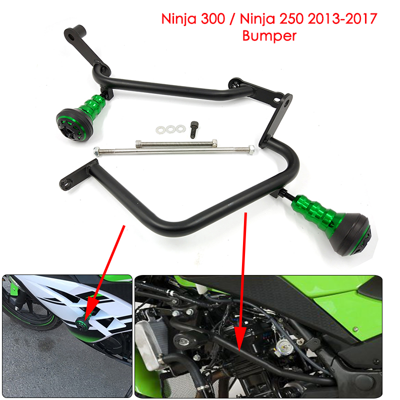 For Kawasaki NINJA 250 Ninja 300 2013 2014 2015 2016 2017 Motorcycle Bumper Engine Protective Guard Crash Bar Protector New недорго, оригинальная цена