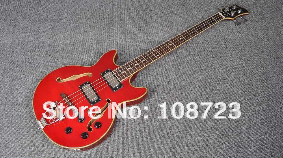 Livraison Gratuite Jey JTB-134 4 Cordes Semi Creux Acoustique Guitare Basse Électrique