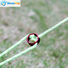 10pcs Tent Wind Rope Round Regulating Buckle Camping Cord Tensioners Outdoor Canopy Adjustable Length Fixing Ring