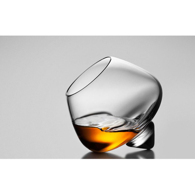 Rotating Whiskey Drinking Glass with Tumbler Bottom