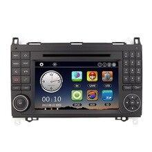 7″ Multi-language Car DVD Player 2 Din GPS Navigation in Dash Bluetooth Radio for Mercedes-Benz A B Class/Viano/Vito/Sprinter