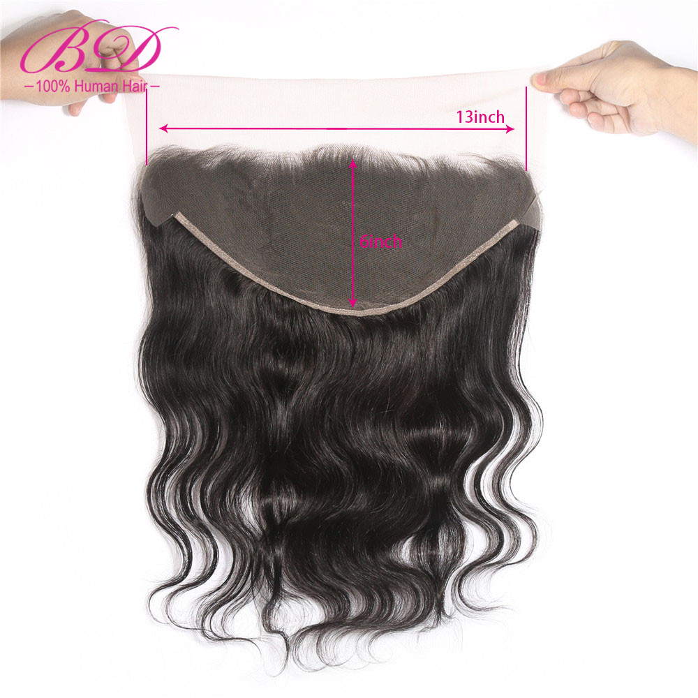 Ear to Ear 13x6 Lace Frontal Closure Body Wave With Baby Hair Deep Part 8-20 inch Brazilian Remy Human Hair Pre Plucked BD Hair
