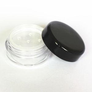 Image 2 - 48 pçs/lote 1g/1ml vazio solto recipiente de pó plástico frasco cosmético caixa de maquiagem com peneira sopro amostra recipiente frasco creme