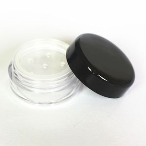 Image 2 - 48pcs/Lot 1g/1ml Empty Loose Powder Container Plastic Cosmetic Jar Makeup Case with Sifter Puff Sample Container Cream Jar