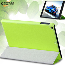 KISSCASE Three Fold Stand Leather Flip Case For iPad mini 1 2 3 Protective Shell