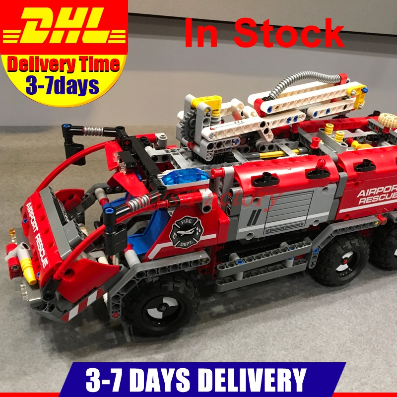 IN Stock DHL LEPIN 20055 Technic Mechanical Series The Rescue Vehicle Set Children Educational Building Blocks Bricks Toys 42068 lepin 20055 city technic mechanical fire accident the rescue vehicle building blocks bricks educational toys for children gifts