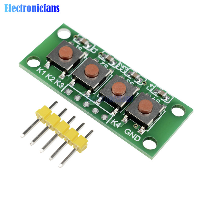 United Keypad 4 Button Key Module Switch Keyboard For Uno Mega2560 Breadboard For Arduino Consumer Electronics