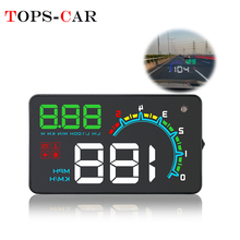 GEYIREN D3000 Windshield Projector Overspeed RPM Alarm OBD2 Car HUD Digital Speedometer Head-Up Display For All Vehicle Cars цена и фото